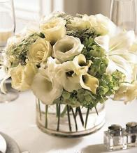 The FTD White Linen Centerpiece