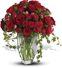 Rose Romanesque Bouquet - Premium Red Roses