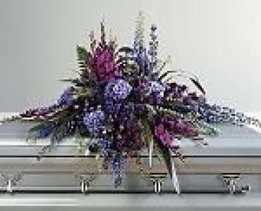Serene Purple Casket Spray